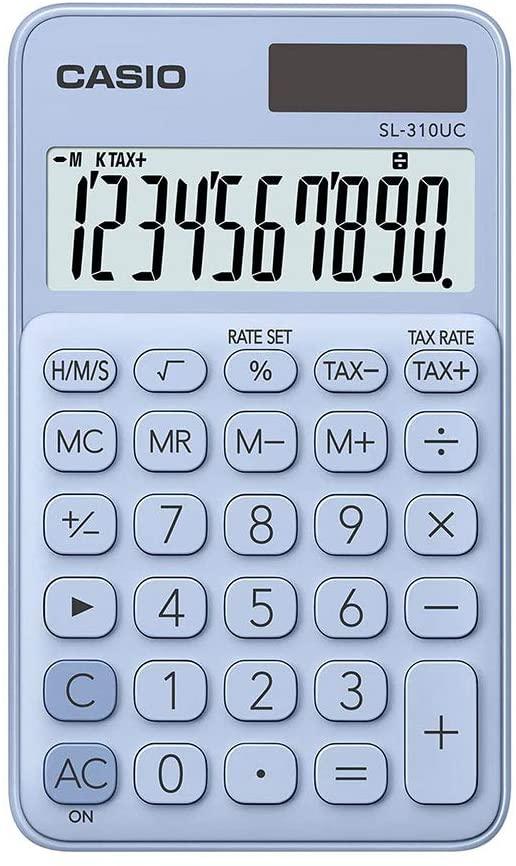 Calculadora Portátil SL-310UC Azul Claro - Casio