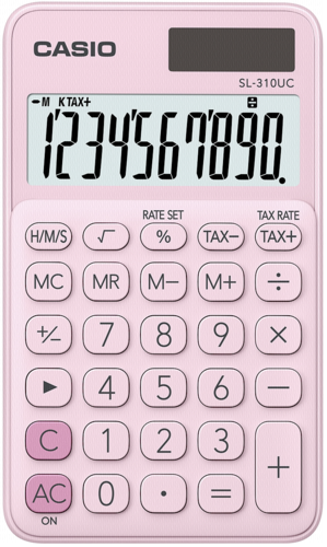 Calculadora Portátil SL-310UC Rosa - Casio