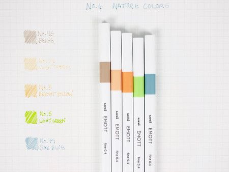 Caneta Esferográfica N°6 Nature Colors - Uni
