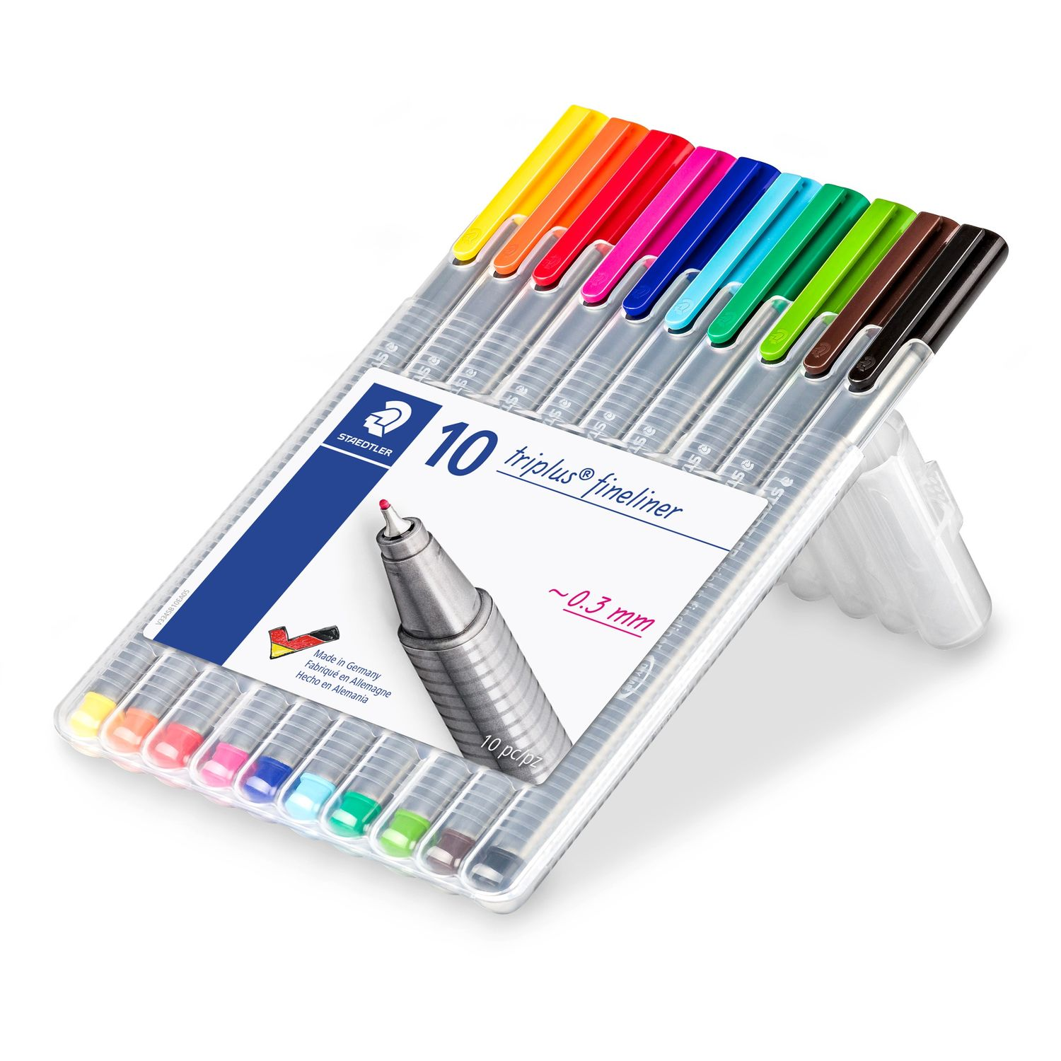 Caneta Fineliner Triplus 10 cores - Staedtler