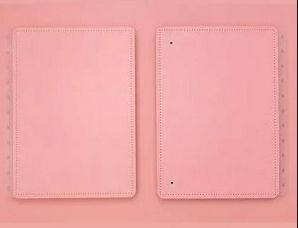 Capa e Contracapa Grande rosa pastel - Caderno Inteligente