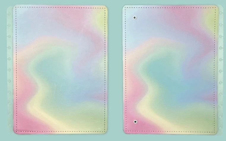 Capa e Contracapa Médio Candy Splash  - Caderno Inteligente