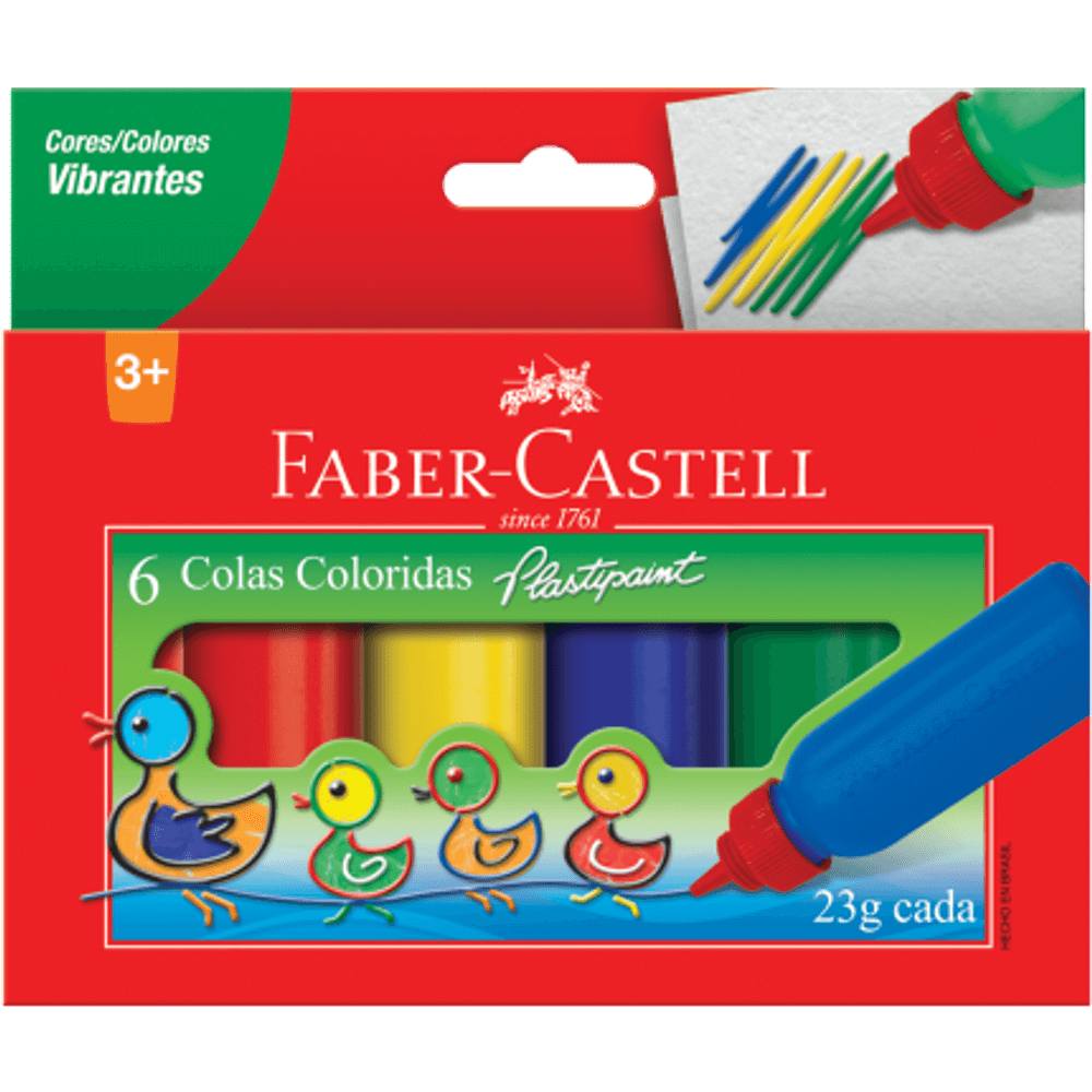 Cola Colorida 6 Cores - Faber Castell