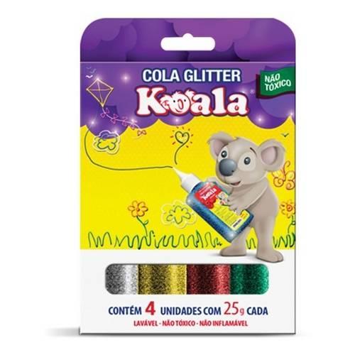Cola Glitter 4 Unidades - Koala