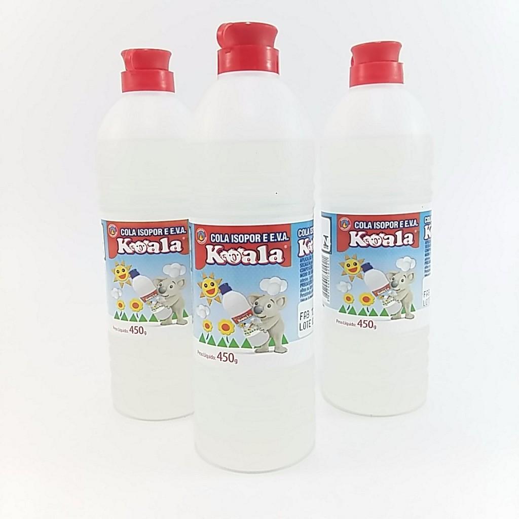 Cola isopor 250gr ou 450gr ou 900gr (Und/Pct/Cx) - Koala