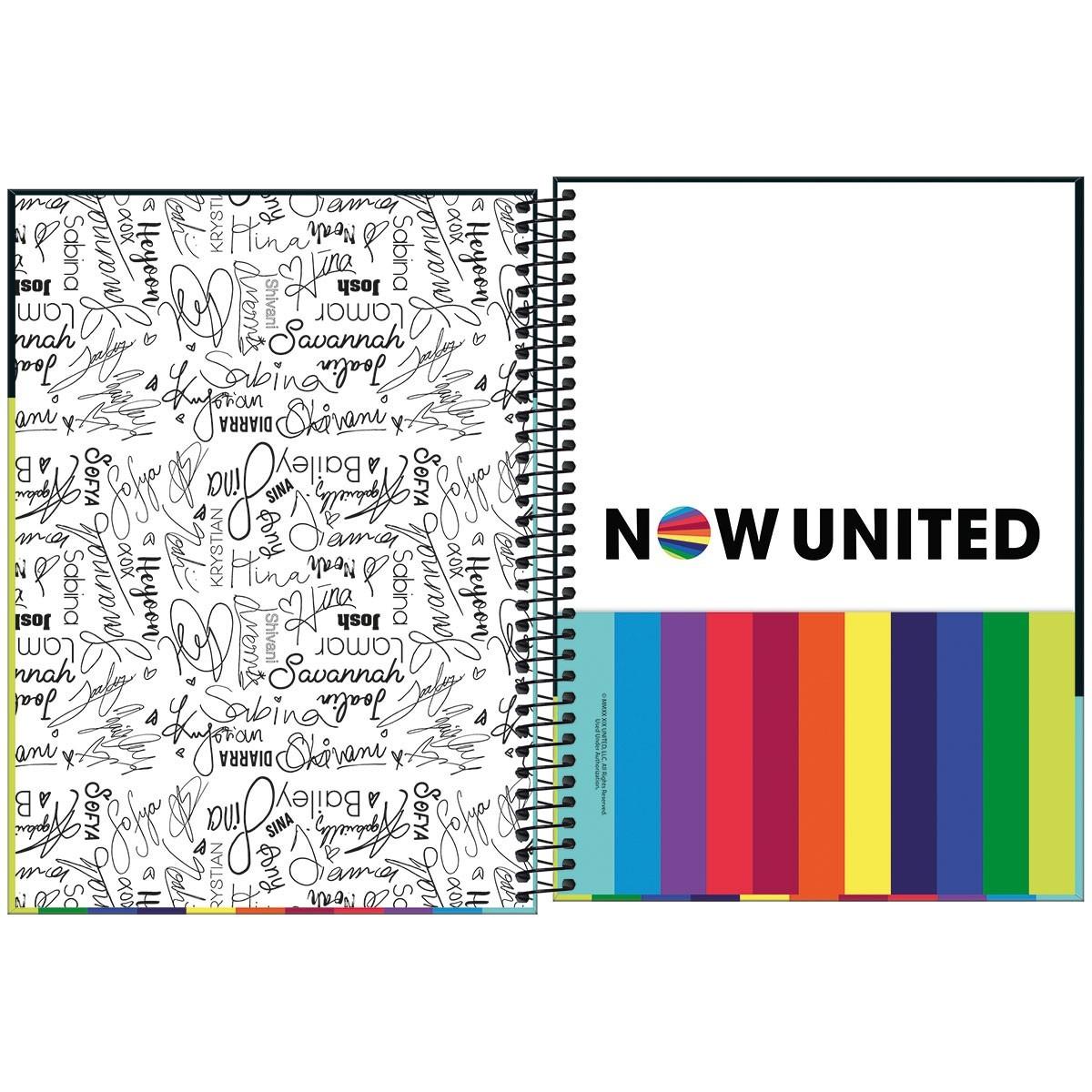 Caderno Now United 1 Matéria Arco-íris - Tilibra