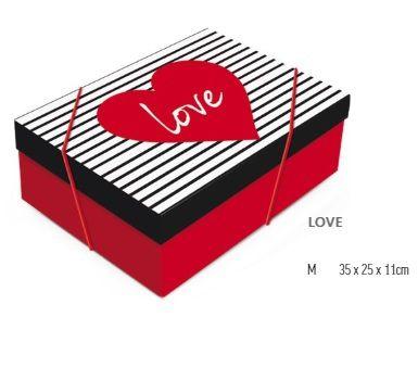 Caixa de presente com tampa 25x25x11  - Cromus