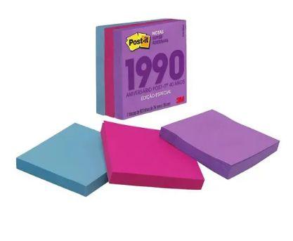 Cubo de Notas adesivas RETRO anos 1990 270fls  - 3M 76x76