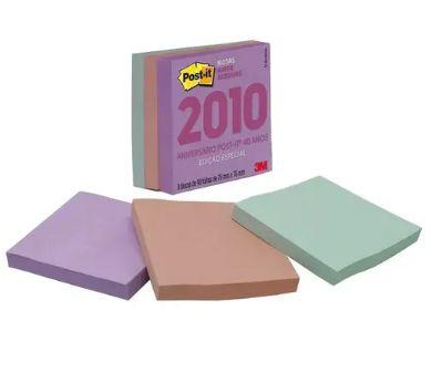 Cubo de Notas adesivas RETRO anos 2010 270fls  - 3M 76x76