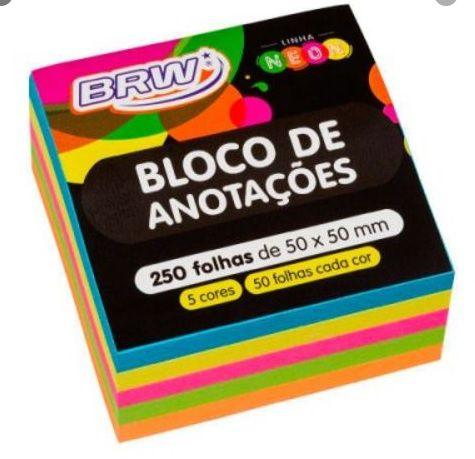 Cubo de Notas adesivas 400fls neon 4cores - brw 76x76