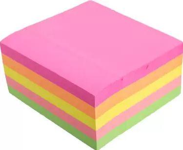 Cubo de Notas adesivas 400fls neon 4cores - MJ 76x76