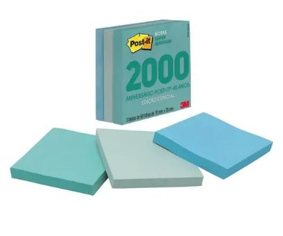 Cubo de Notas adesivas RETRO anos 2000 270fls  - 3M 76x76