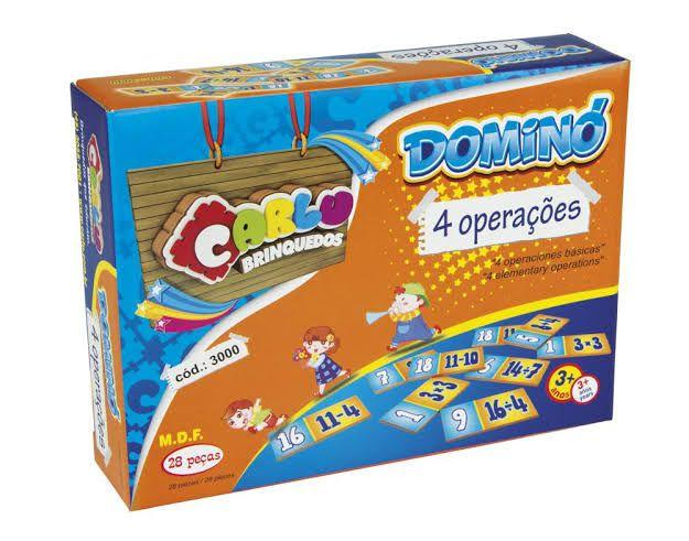 Dominó 4 Operações - Carlu Brinquedos