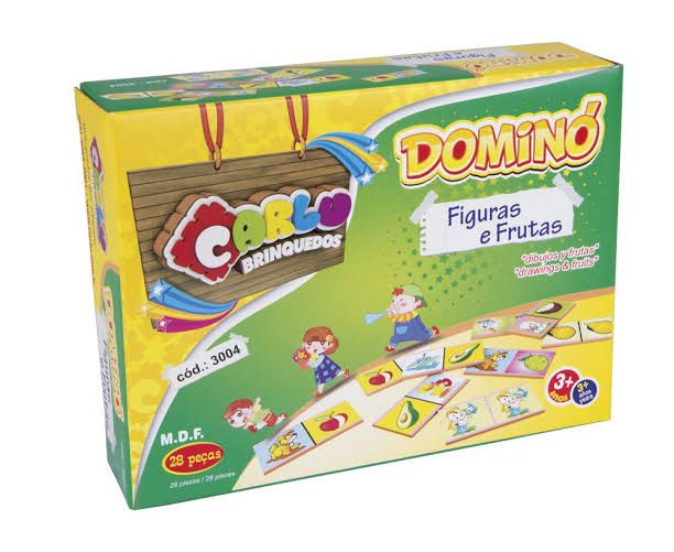 Dominó Figuras e Frutas - Carlu Brinquedos