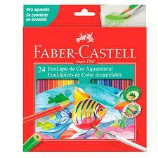 Ecolápis Aquarelável 24 Cores - Faber Castell
