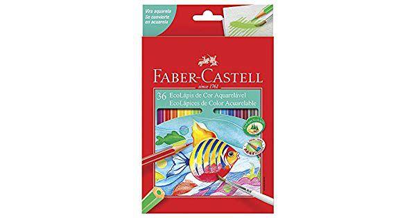 Ecolápis Aquarelável 36 Cores - Faber Castell