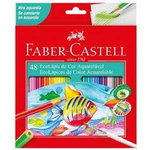 Ecolápis Aquarelável 48 Cores - Faber Castell