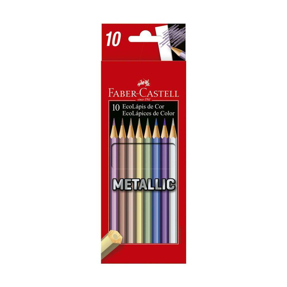 Ecolápis de cor Metálico 10 Unidades - Faber Castell
