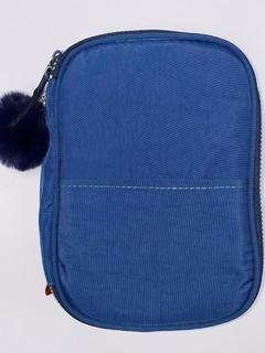 Estojo Box Nylon Com Bolso Liso Azul - Daterra