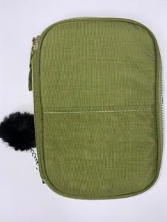 Estojo Box Nylon Com Bolso Liso Verde - Daterra