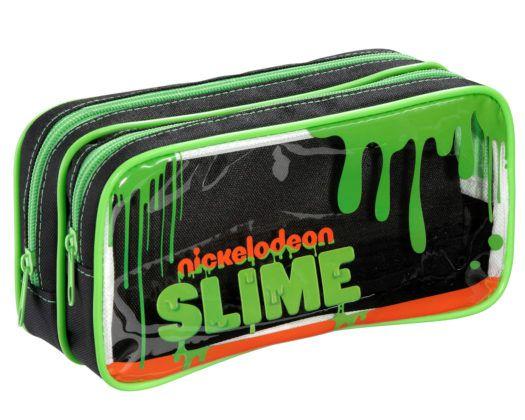 Estojo Nickelodeon Slime com 2 Compartimentos - Foroni