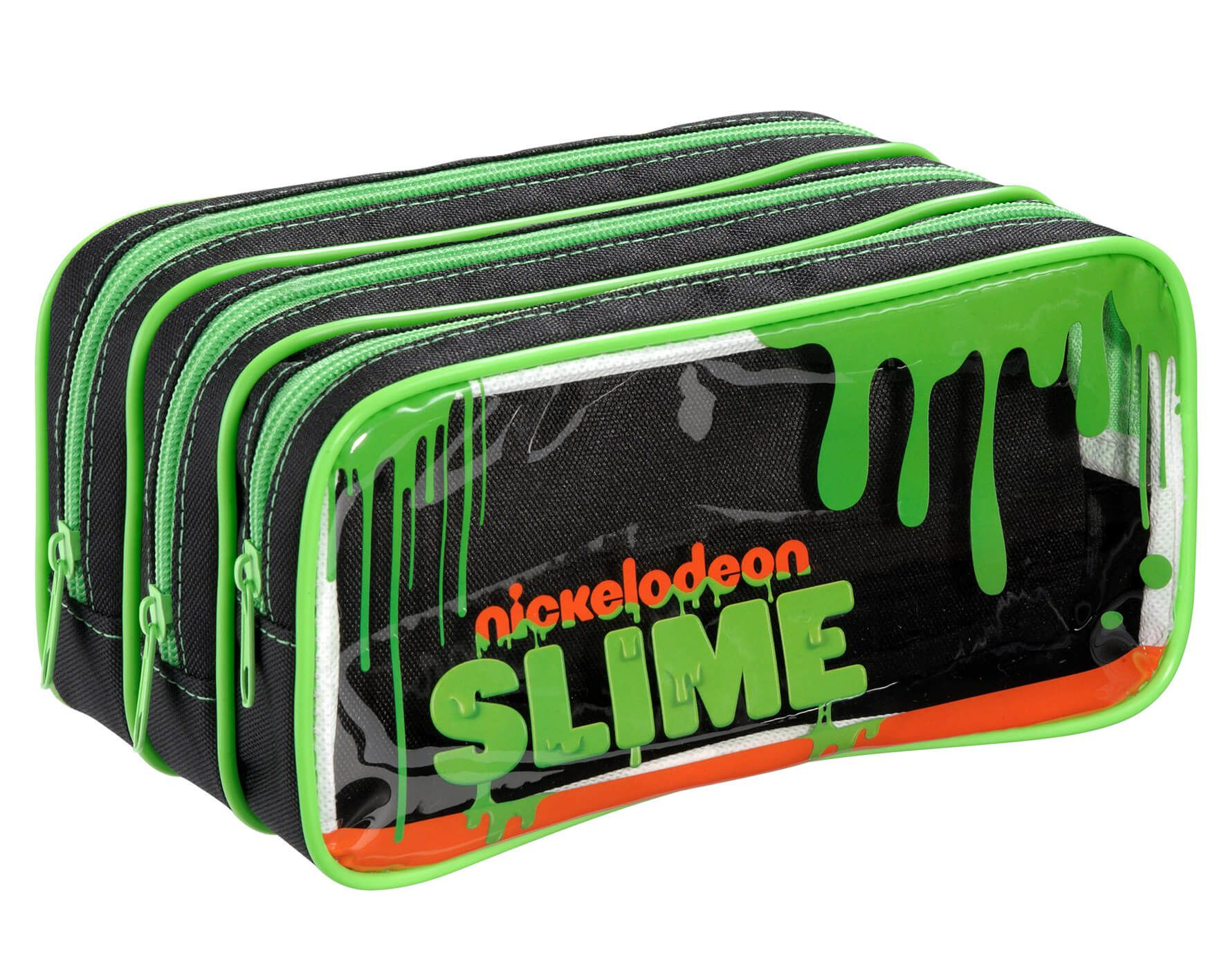 Estojo Nickelodeon Slime com 3 Compartimentos - Foroni