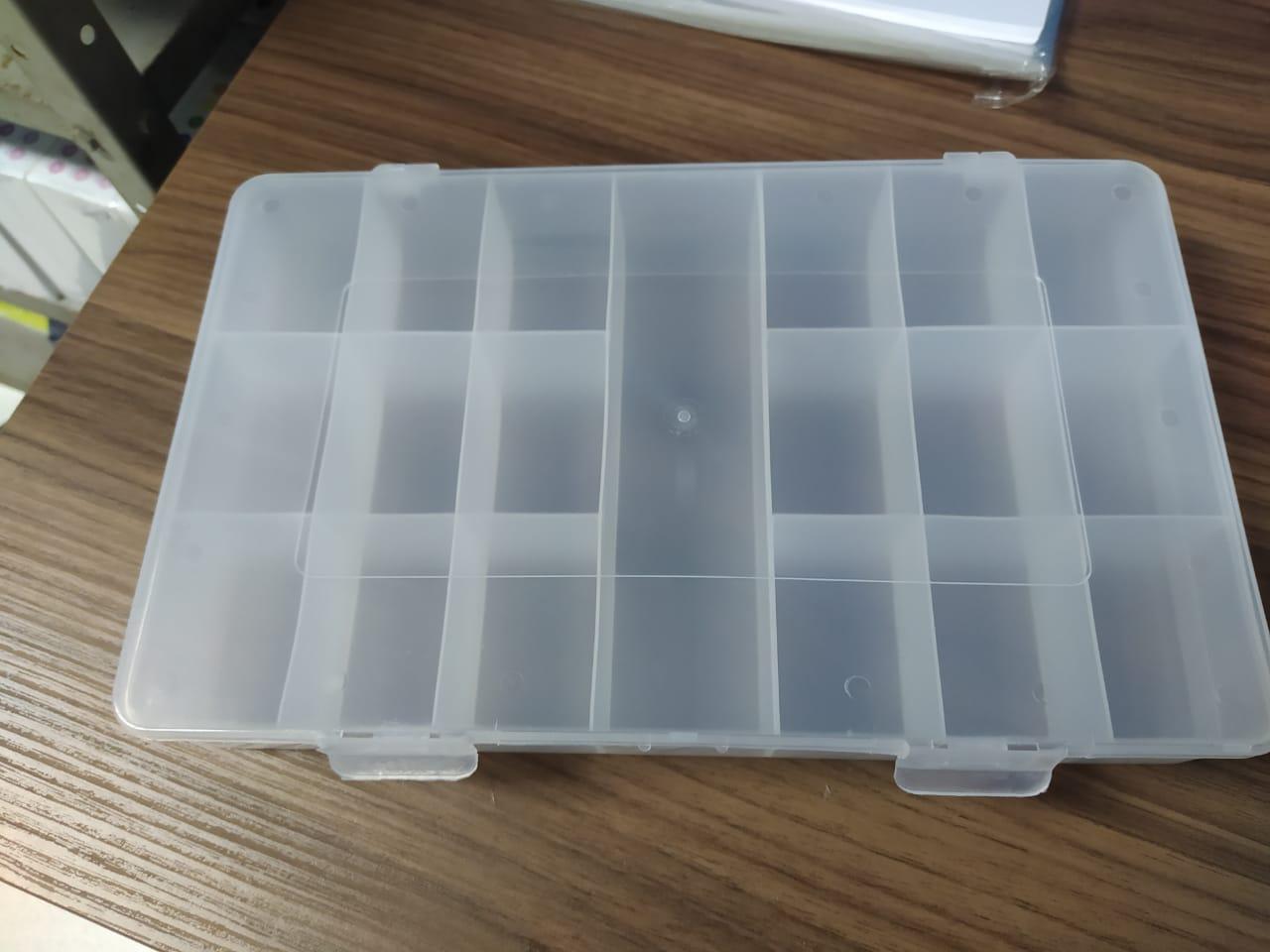Estojo Plástico Multiuso Transparente grande