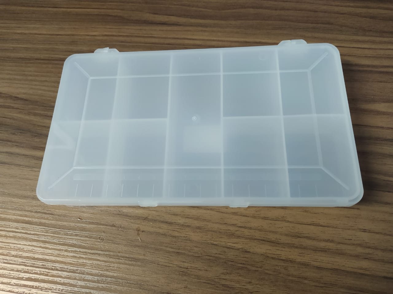 Estojo Plástico Multiuso Transparente pequeno