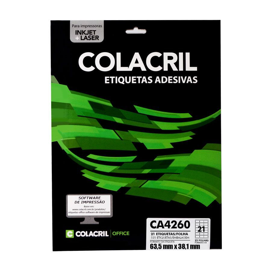 Etiqueta CA4263 99,1mmx38,1mm 25fls - Colacril