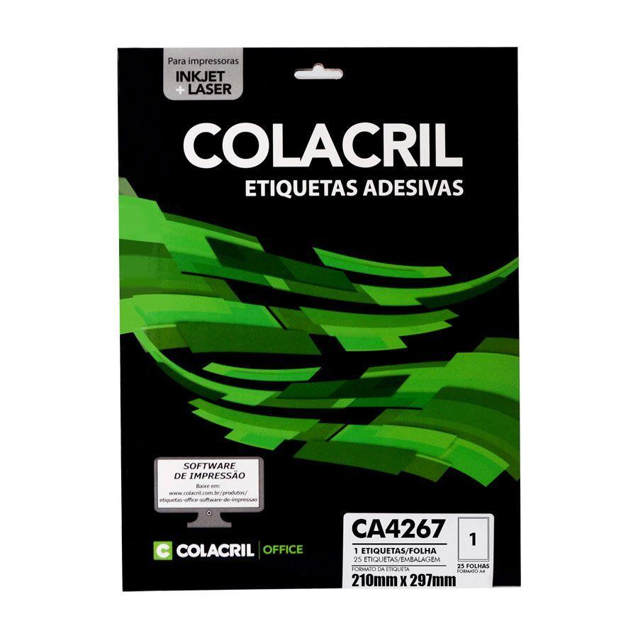 Etiqueta CA4267 210mmx297mm 25fls - Colacril