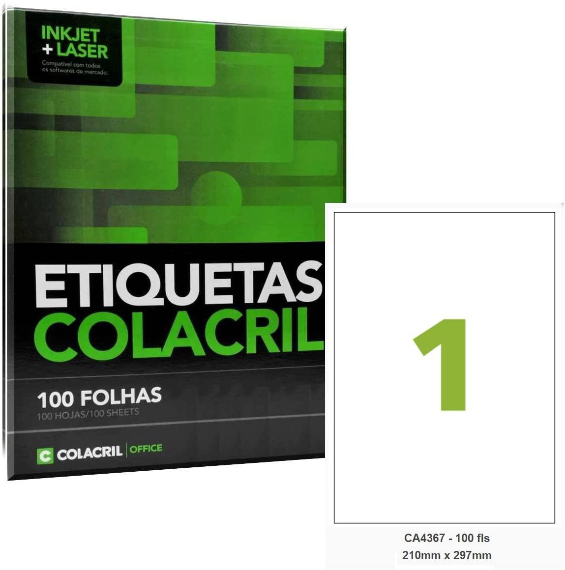 Etiqueta CA4367 210mmx297mm 100fls - Colacril
