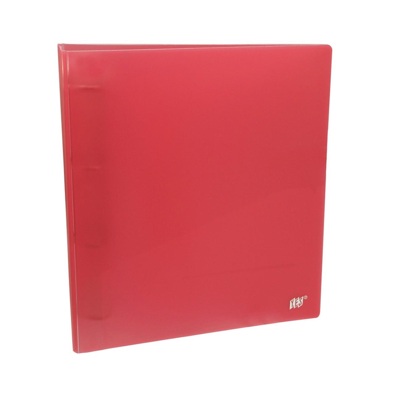 Fichário R4ANS A4 4 Argolas Color Grid Vermelho 96 Folhas com 5 Sacos - Yes