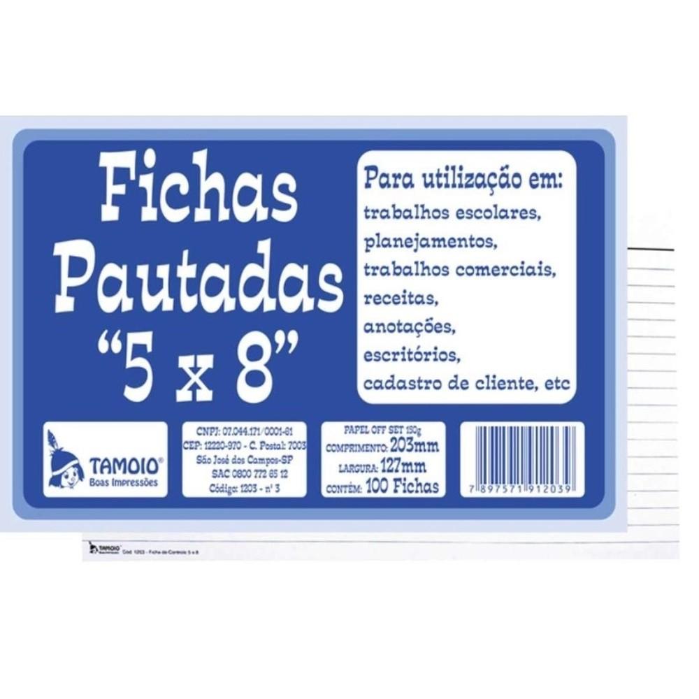 Fichas Pautadas 5x8 - Tamoio