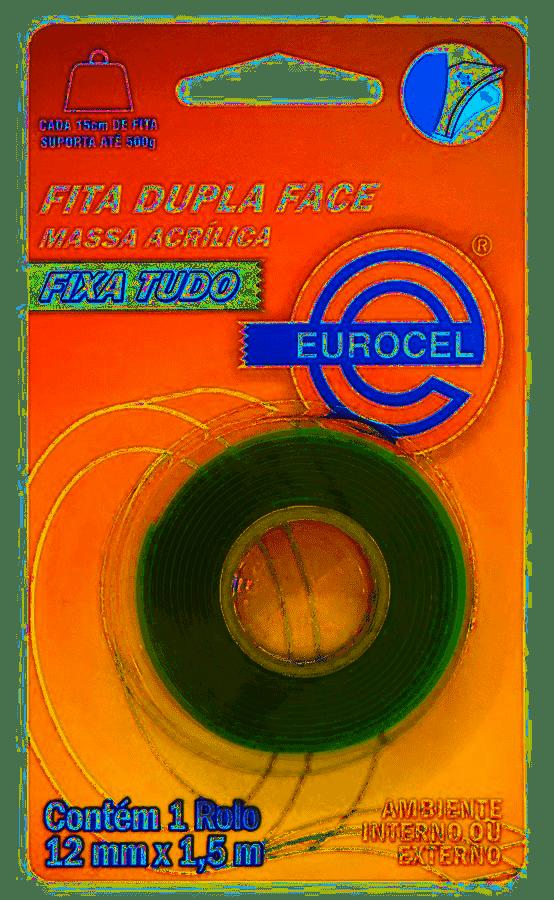 Fita Dupla Face 12mmx1,5m - Eurocel