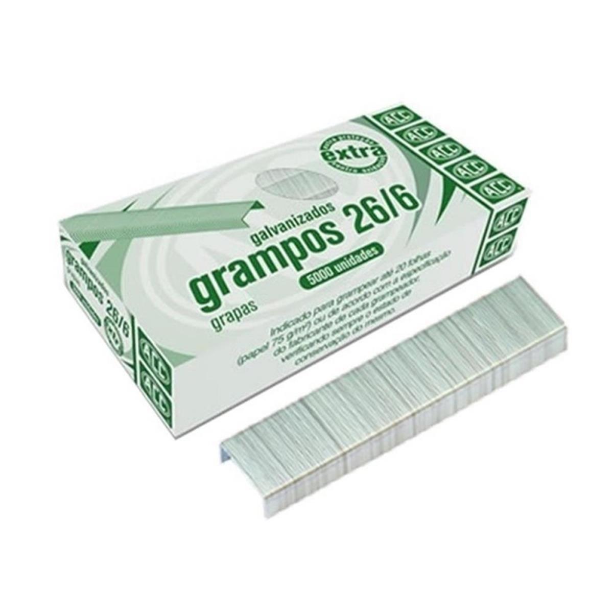 Grampos 26/6 5000 Unidades - ACC