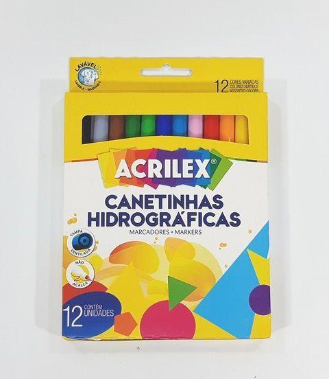 Hidrocor 12 Cores - ACRILEX