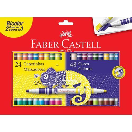 PROMOÇÃO - Hidrocor Bicolor 24 Canetinhas ( 48 Cores ) - Faber Castell