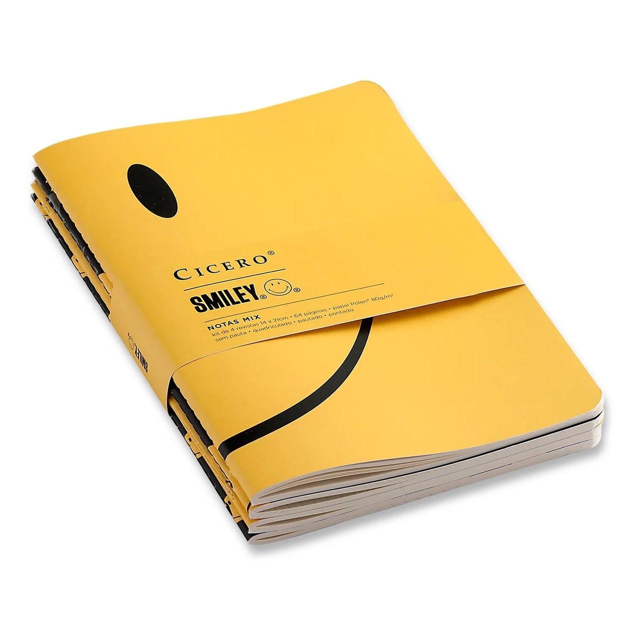 Kit de Revistas Smiley Notas Mix - 14X21 - sortido