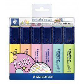 Kit Marca Texto Pastel 6 Cores - Staedtler
