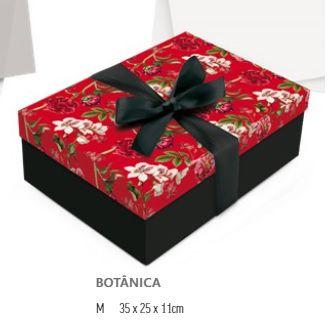 kit para presente Caixa+Laço+seda+tag  35x25x11  - Cromus