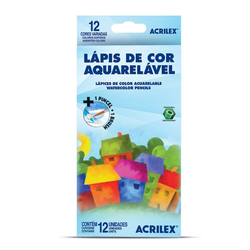 Lápis de Cor Aquarelável 12 Unidades - Acrilex