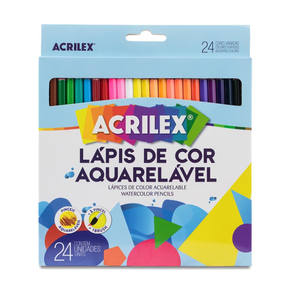 Lápis de cor aquarelável 24 cores - Acrilex