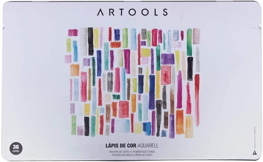 Lápis de Cor Aquarelável Artools 036 Cores