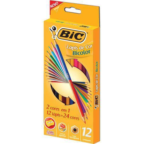 Lápis de Cor Bicolor 24 Cores - BIC