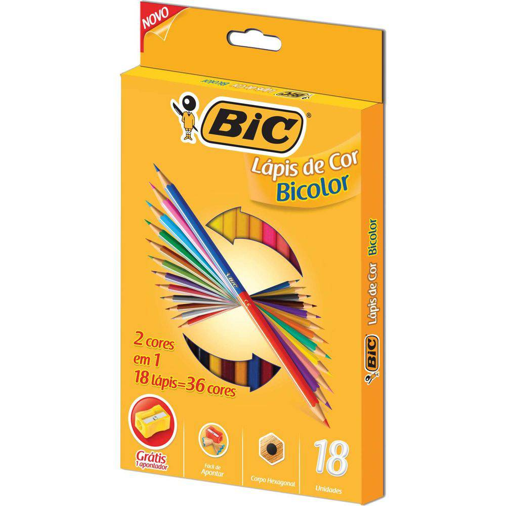 Lápis de Cor Bicolor 36 Cores - BIC