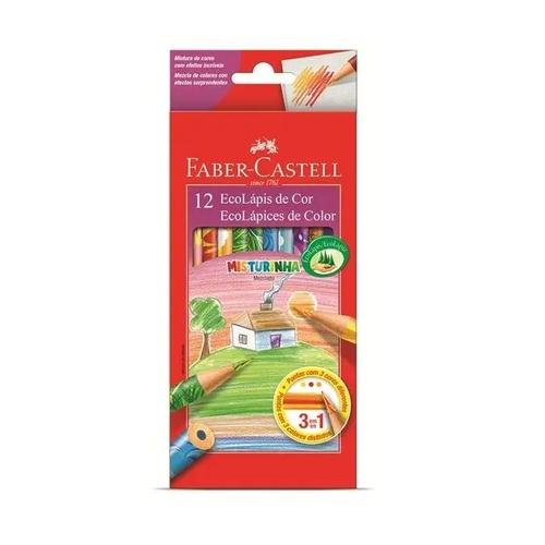 Lápis De Cor Faber-castell 12 Cores Misturinha