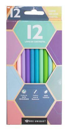 Lápis de Cor pastel com 12 Lápis ( 12 cores ) - BU