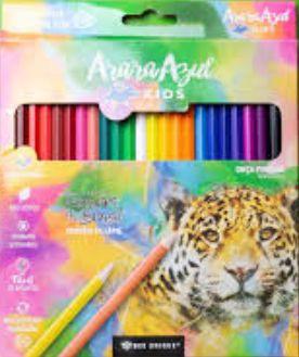 Lápis de Cor sextavado com 24 cores
