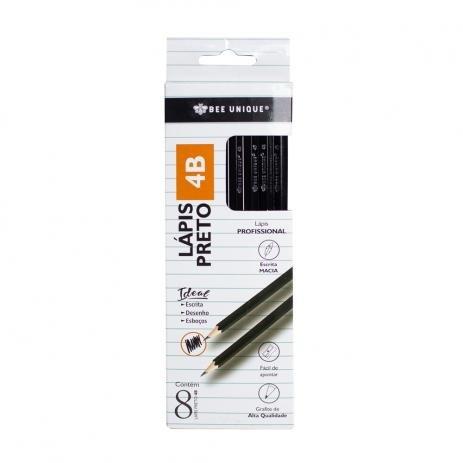 Lápis Grafite Bee Unique com 8 Unidades - Todos os tamanhos