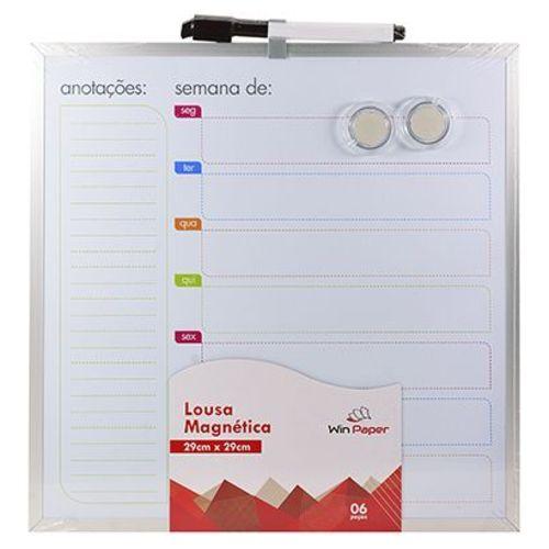 Lousa Quadro Branco De Planejamento Semanal - Win Paper